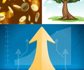 Backgrounds with Money set vector