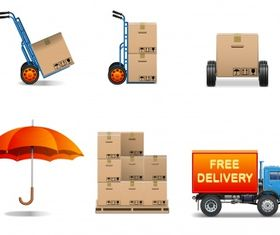 Delivery service Free vector