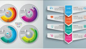 Infographics Backgrounds 54 vector