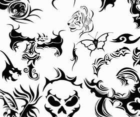 Tattoo Set 5 vector