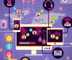 Communication technologies concept vector design