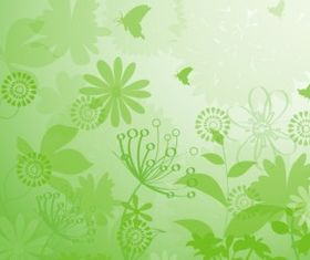 Floral Grunge Background Free vector