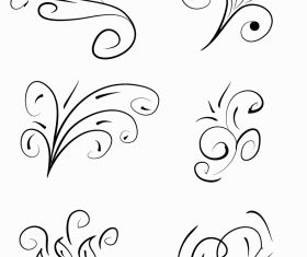 Floral swirl designs Free vectors graphic