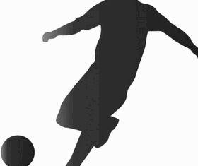Footballer silhouette Free design vector
