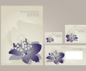 Simple vi template flowers vector