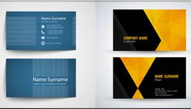Stylish Business Cards Set 11 vector