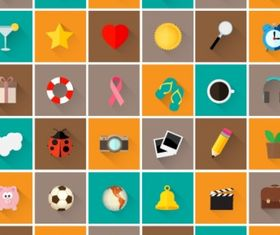 Icons set Free vector