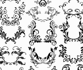 Ornamental Borders Elements 17 vectors graphics