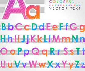 Abstract Alphabets Set 3 vector graphics