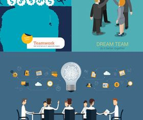 Teamwork Concepts free set vector