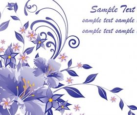 Floral document Free vector