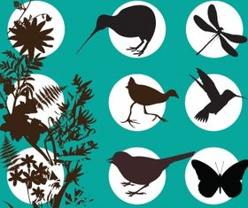 Animal silhouette Illustration vector