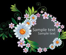 Floral border vectors graphic