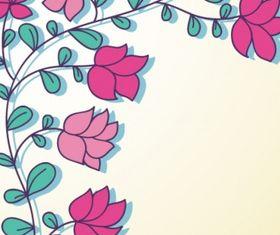 Floral design card Free design vector