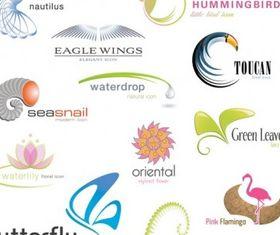 Animals plants shape logo Illustration vector