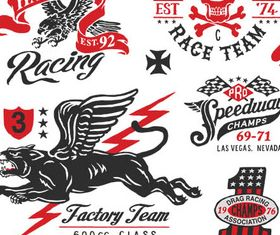 Vehicle Retro Labels creative vector