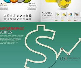 Currency Infographics Backgrounds 2 vector graphics