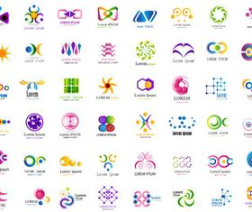 Abstract Business Logotypes 6 design vectors
