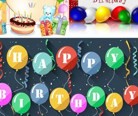 Birthday Backgrounds 6 Illustration vector