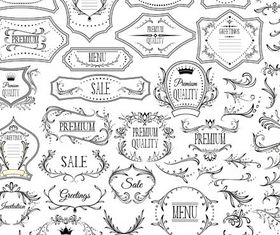 Ornate Menu Elements Mix 5 vectors