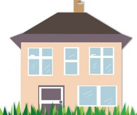House illustration Free vector