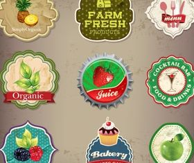 Food and drink label collection Free vectors graphics