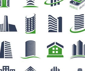 Real Estate Logo Set 6 vector