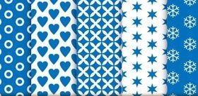 Seamless patterns set 03 vectors