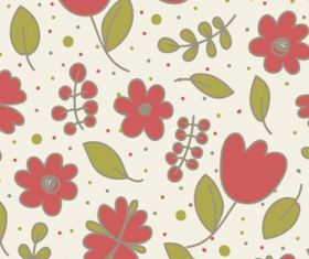 Floral seamless design Free vector