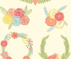 Floral wreath Free design vectors