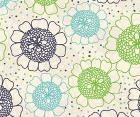 Floral wallpaper seamless Free vectors graphic