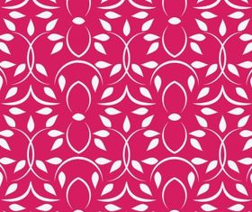 Pink pattern floral Free vector
