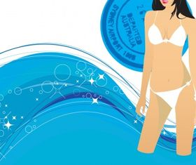 Swimming Free design vectors