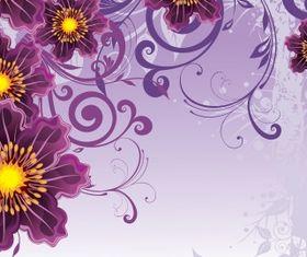 Floral backgorund Free set vector