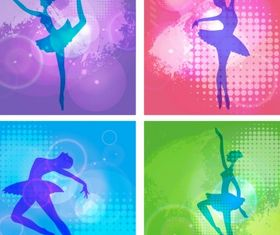 Ballet girl dance Free vectors