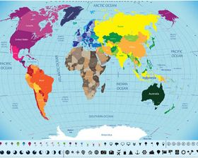 World Different Maps vector graphics