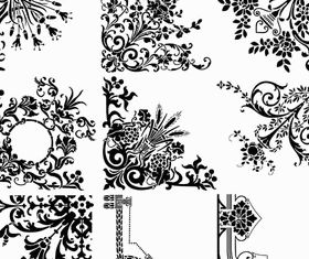 Ornamental Vintage Corners 15 vector