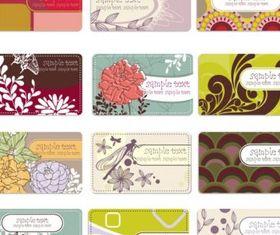 Background elegant flower pattern cards 01 vectors