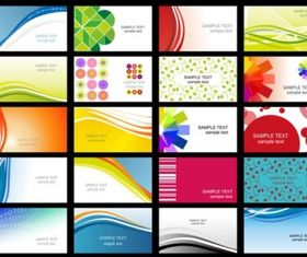 business card templates 02 vector design