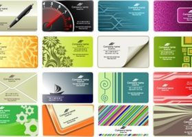 business card templates 01 vectors material