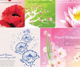 Color flowers background vector