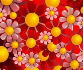 red flower background Free vector
