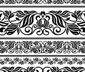 Vintage Floral Borders 5 vectors graphic