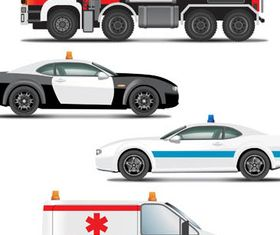 Emergency Transport set vector