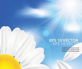 Cartoon sunflower background 02 vectors