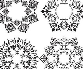 Ornamental Circle Elements vectors material