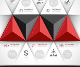 3D Infographics Backgrounds 9 vector graphics