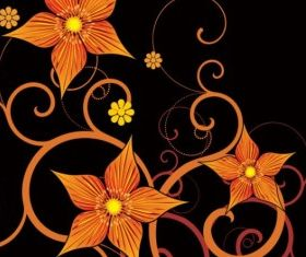 Fashion floral background 01 vector graphic