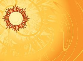 Hot sun background vector graphics