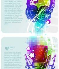background music poster vector